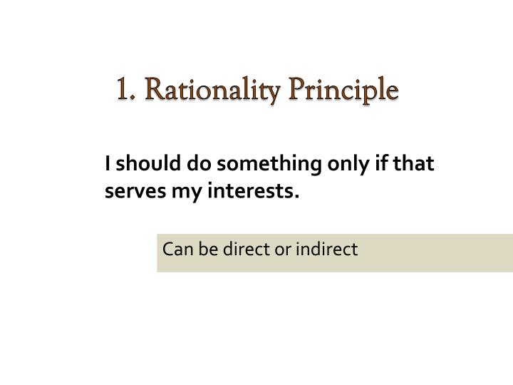 1. Rationality Principle
