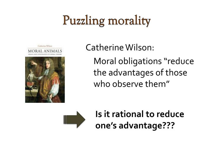 Puzzling morality