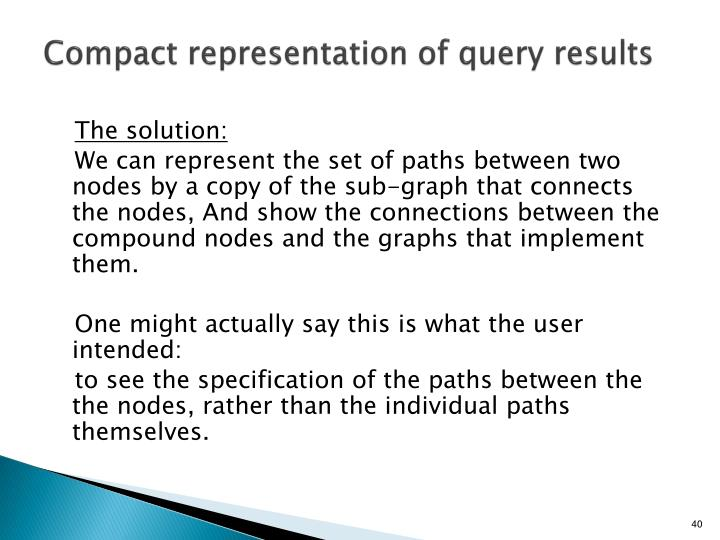 Compact representation of query results
