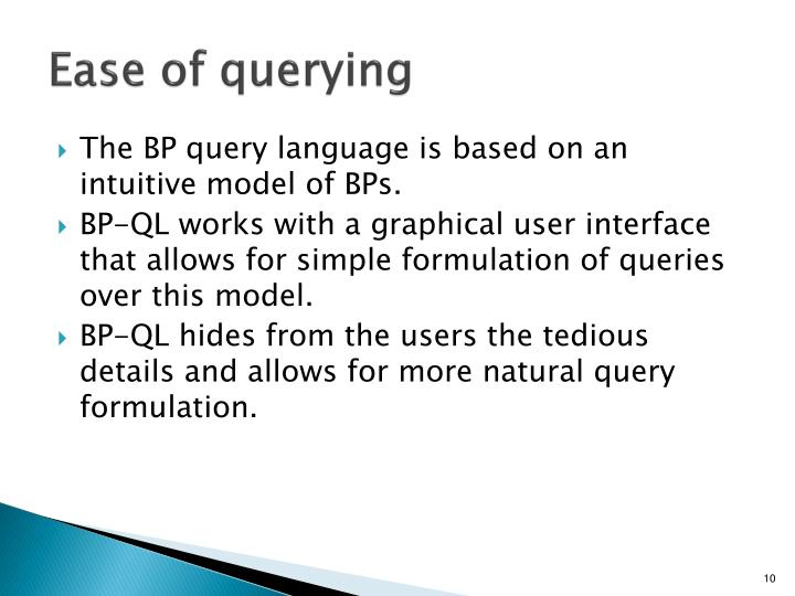 Ease of querying