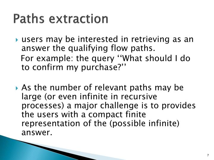 Paths extraction