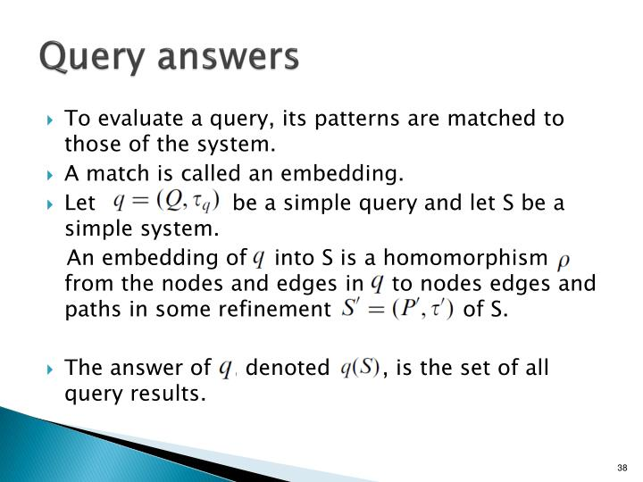 Query answers