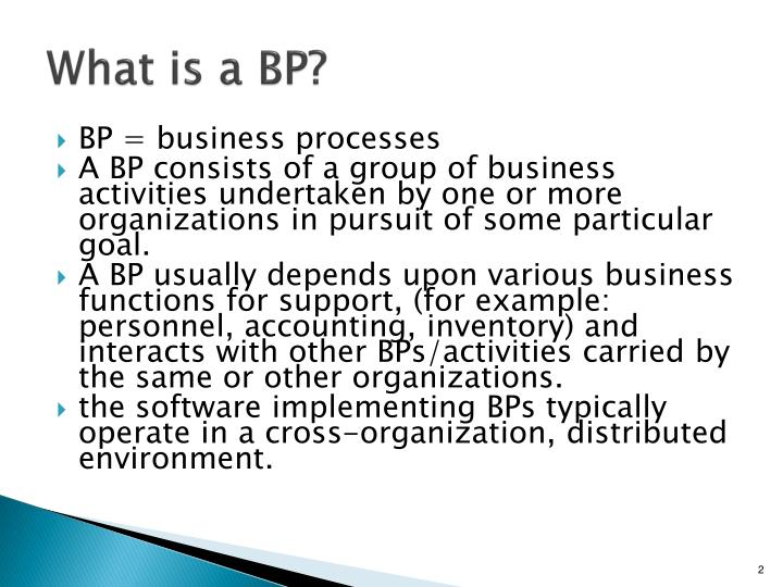 What is a bp