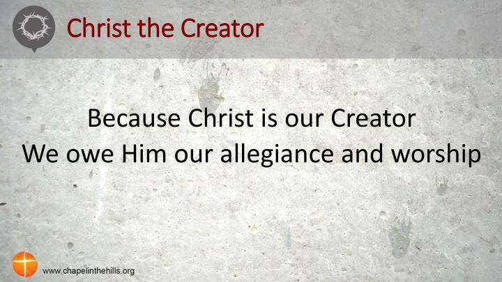Christ the Creator