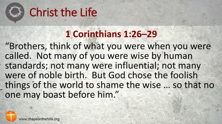 Christ the Life