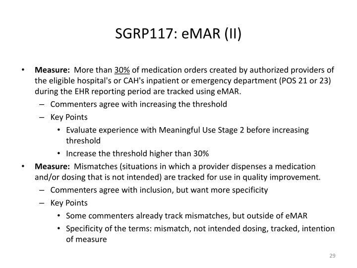 SGRP117: eMAR