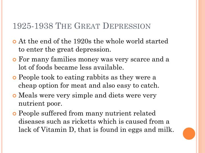 1925-1938 The Great Depression