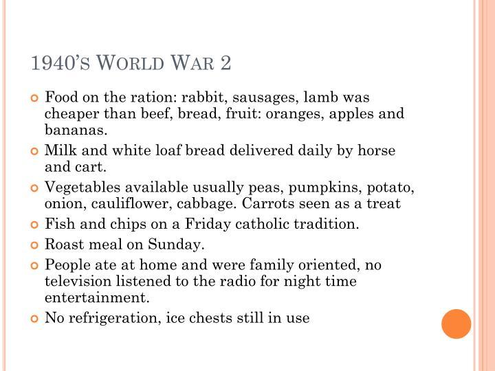 1940's World War 2