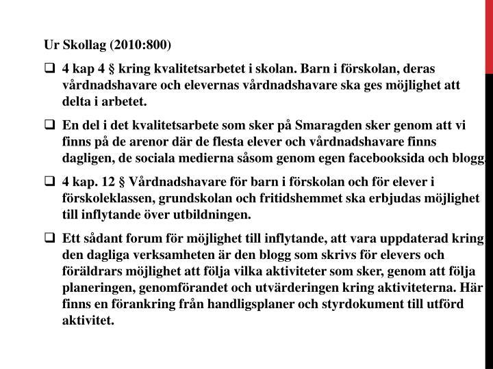 Ur Skollag (2010:800)