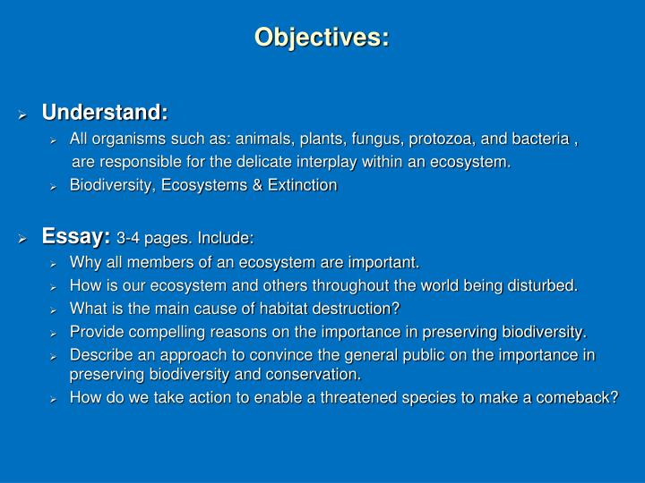 conservation of biodiversity 2 essay Essay biodiversity conservation environment protection: essay writing services in pakistan by no comments gonna take this research paper to suplex city.