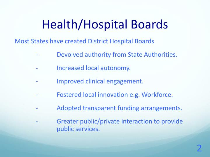 Health hospital boards