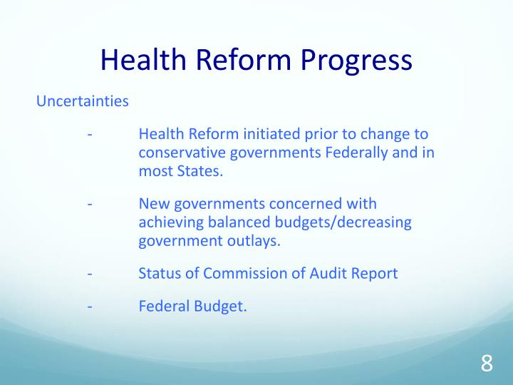 Health Reform Progress