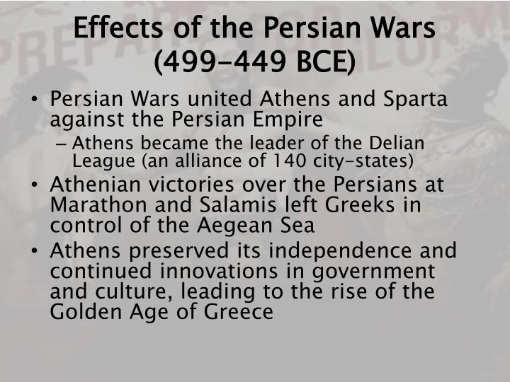 Effects of the Persian Wars (499-449 BCE)