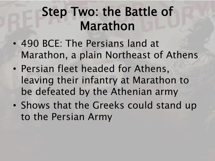 Step Two: the Battle of Marathon