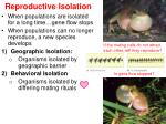 reproductive isolation1