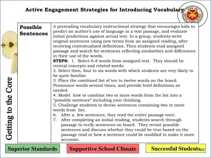 Active Engagement Strategies for