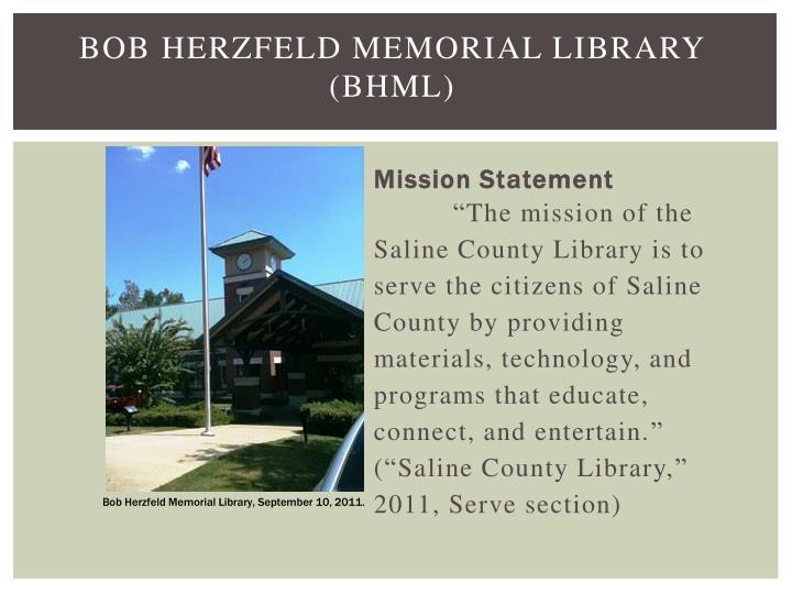 Bob Herzfeld Memorial Library (BHML)
