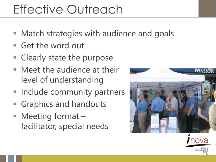 Effective Outreach