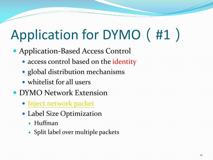 Application for DYMO