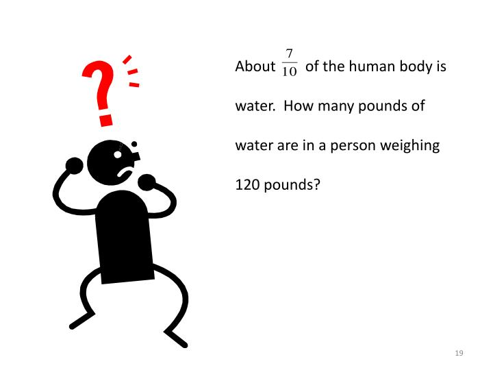About        of the human body is