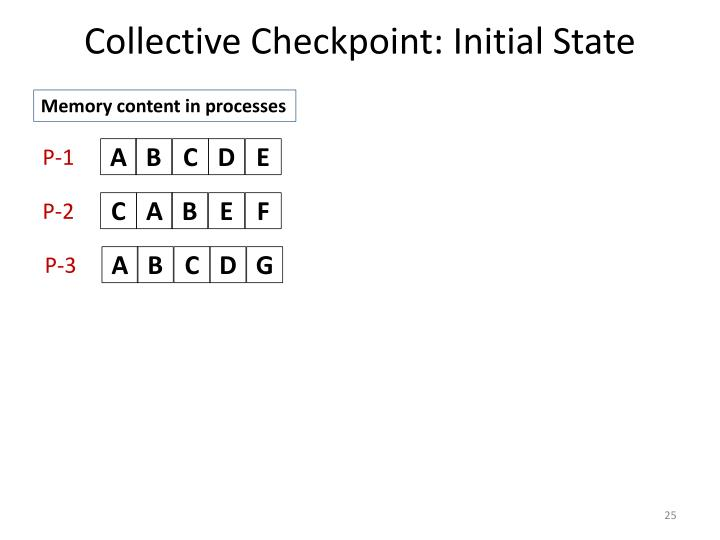 Collective Checkpoint: Initial State