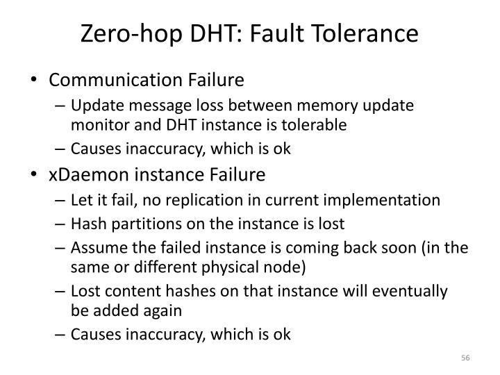 Zero-hop DHT: Fault Tolerance