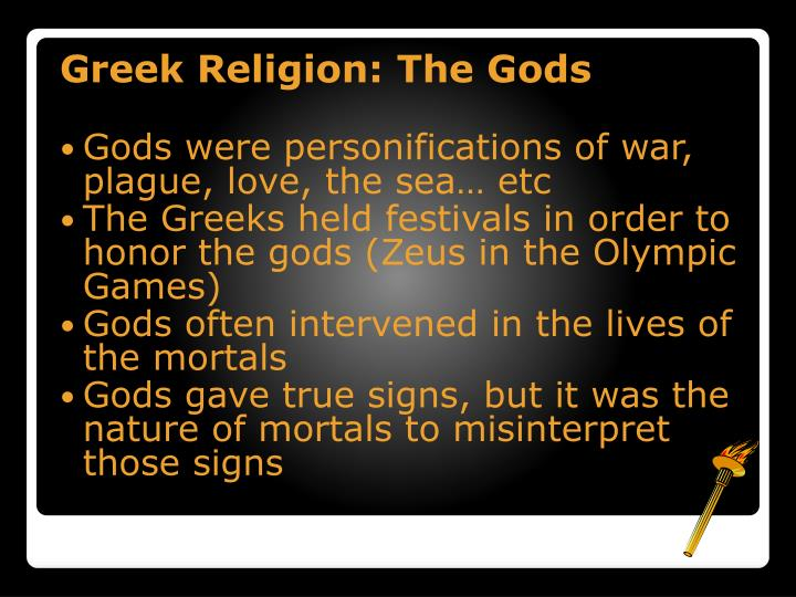 Greek Religion: The Gods