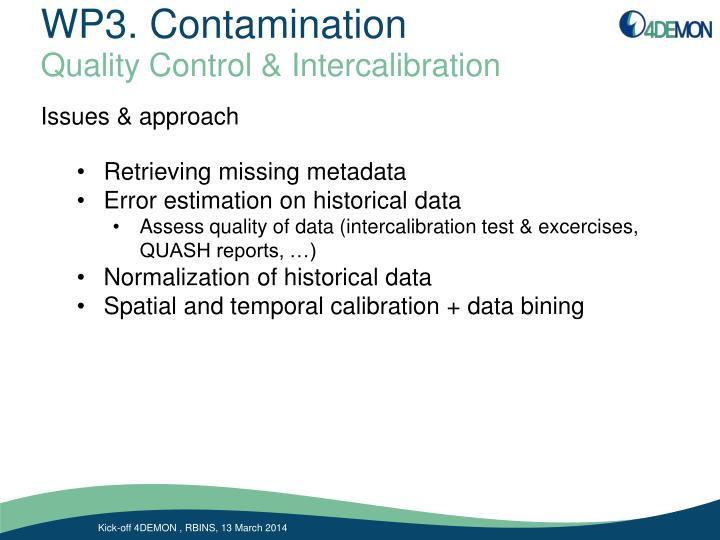 WP3. Contamination