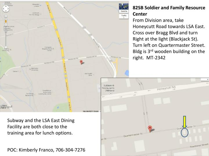 82SB Soldier and Family Resource Center