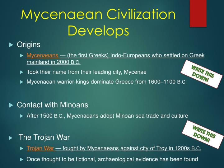 Mycenaean Civilization Develops