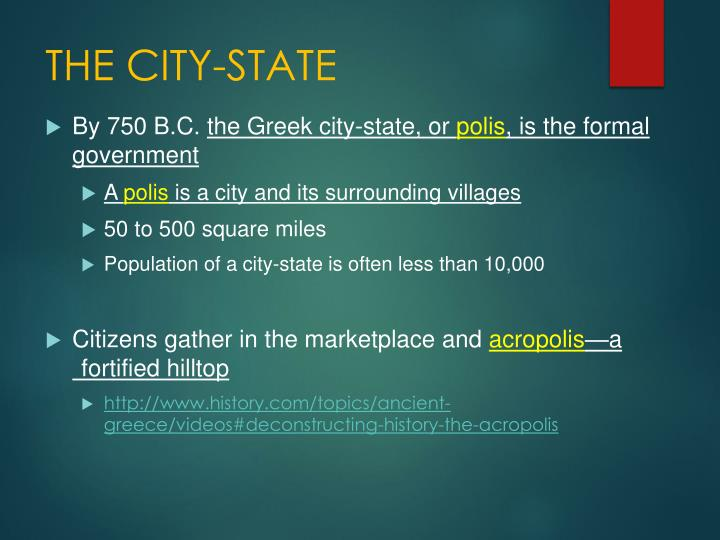 THE CITY-STATE