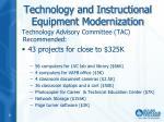 technology and instructional equipment modernization1