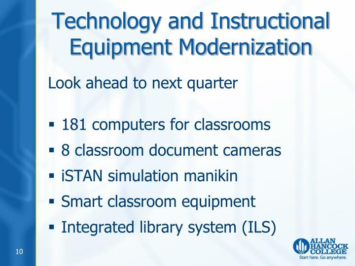 Technology and Instructional Equipment Modernization