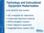 technology and instructional equipment modernization2