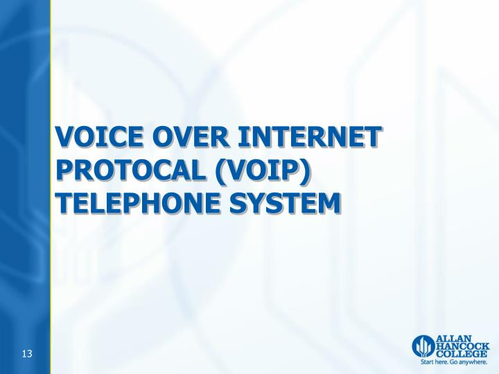 VOICE OVER INTERNET PROTOCAL (VOIP) TELEPHONE SYSTEM