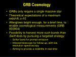 grb cosmology