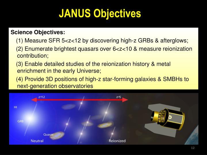 JANUS Objectives