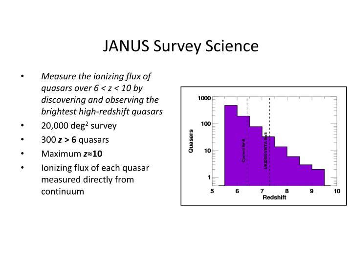 JANUS Survey Science