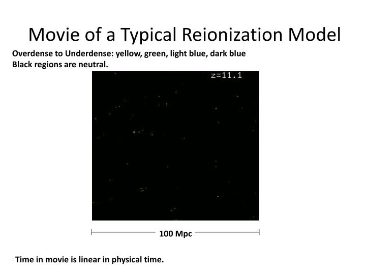 Movie of a Typical Reionization Model