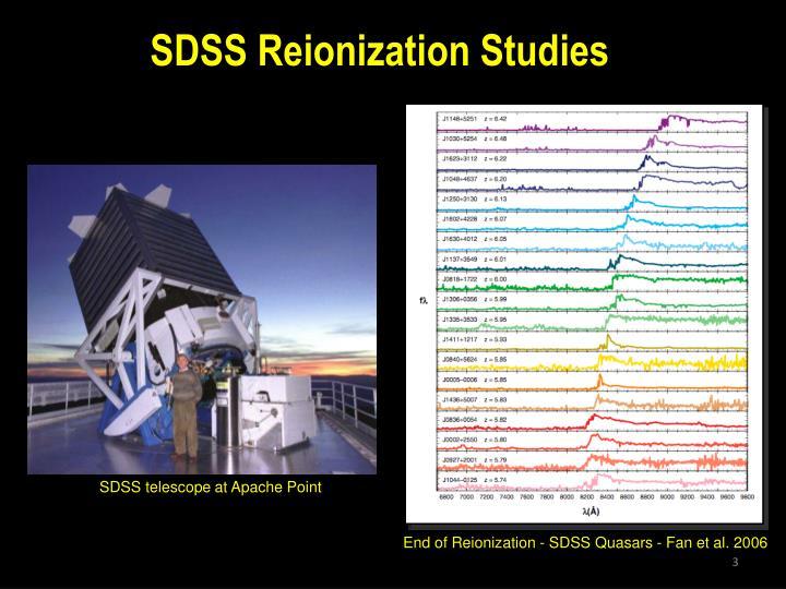 SDSS Reionization Studies