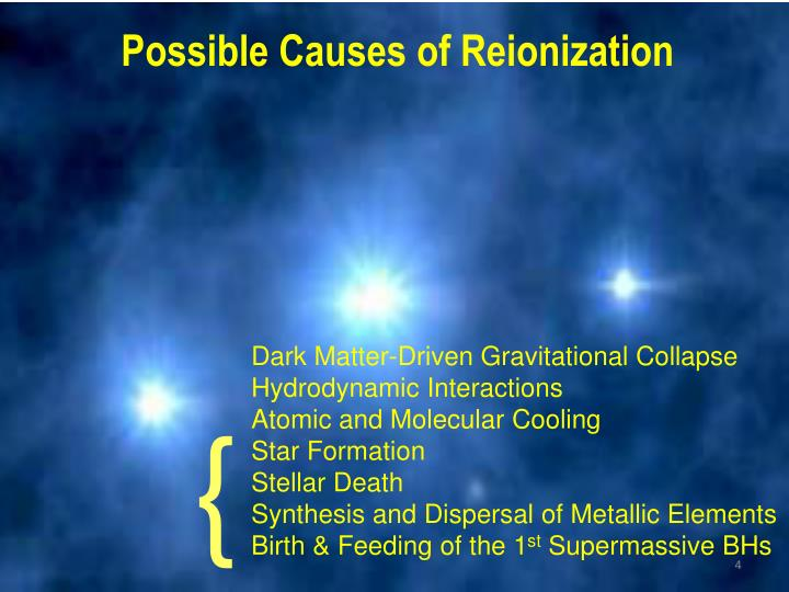 Possible Causes of Reionization