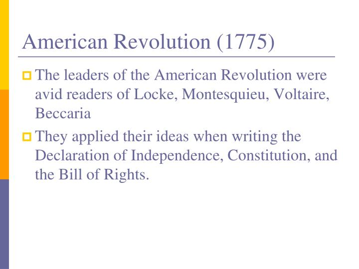 American Revolution (1775)