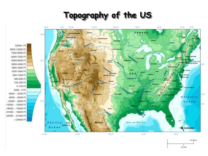 Topography of the US
