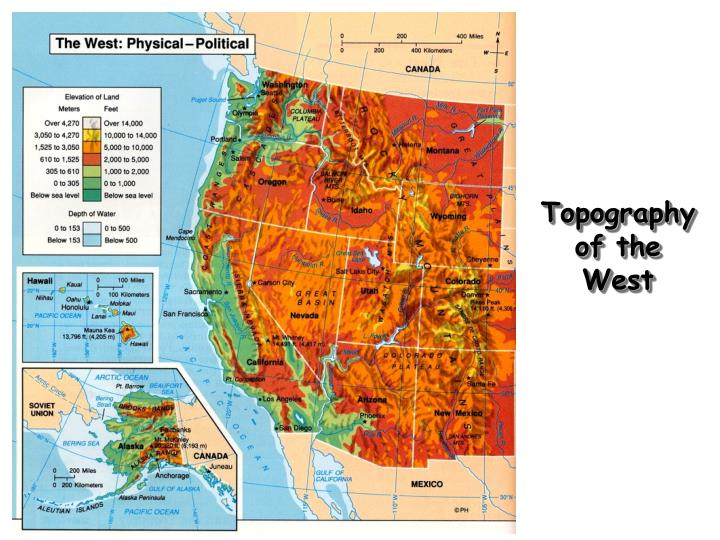 Topography of the West