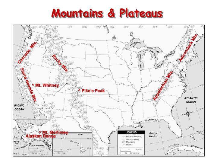 Mountains & Plateaus