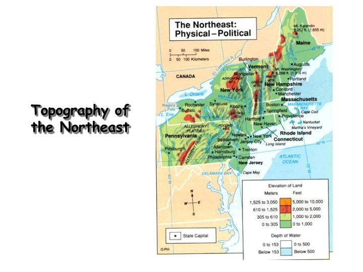 Topography of the Northeast
