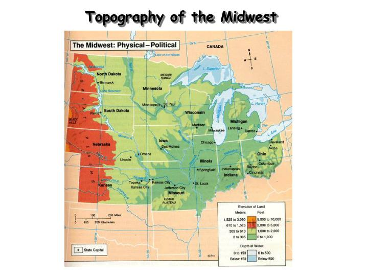 Topography of the Midwest