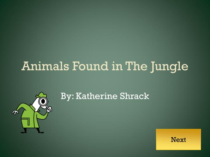 Animals found in the jungle