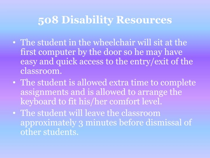 508 Disability Resources