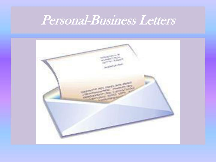 Personal business letters